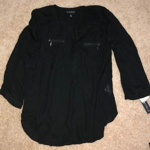 My Michelle (Kohl's) - black blouse NWT